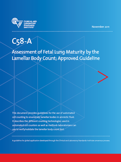 Assessment of Fetal Lung Maturity by the Lamellar Body Count, 1st Edition