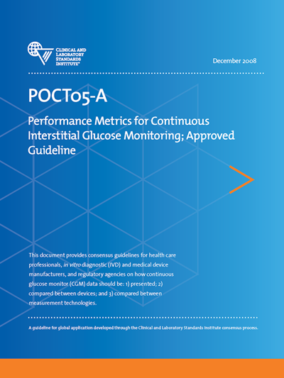 Performance Metrics for Continuous Interstitial Glucose Monitoring, 1st Edition