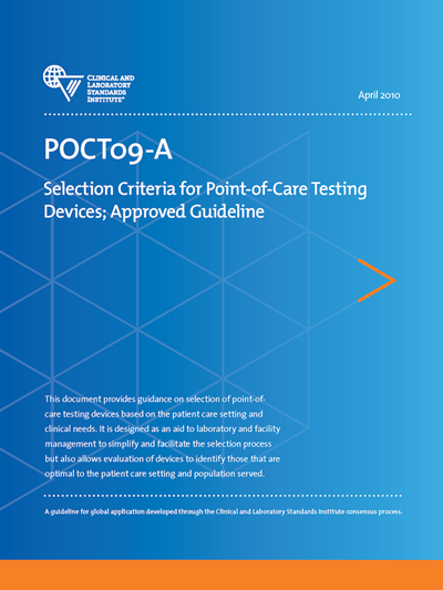 Selection Criteria for Point-of-Care Testing Devices, 1st Edition